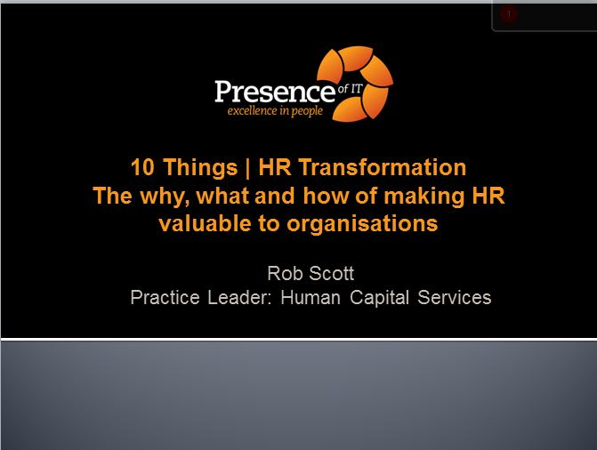 click to launch  10 things hr